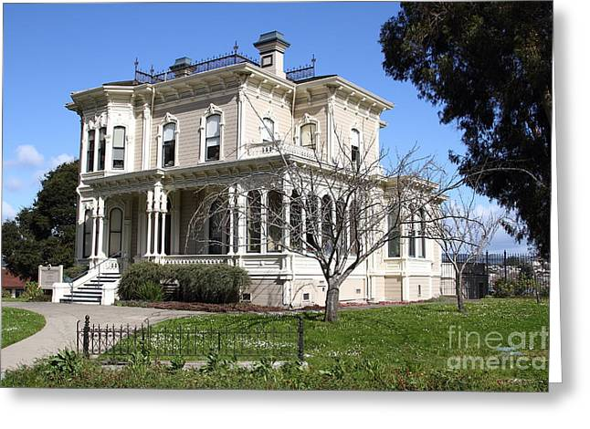 Old Victorian Camron-Stanford House . Oakland California . 7D13445 Greeting Card by Wingsdomain Art and Photography