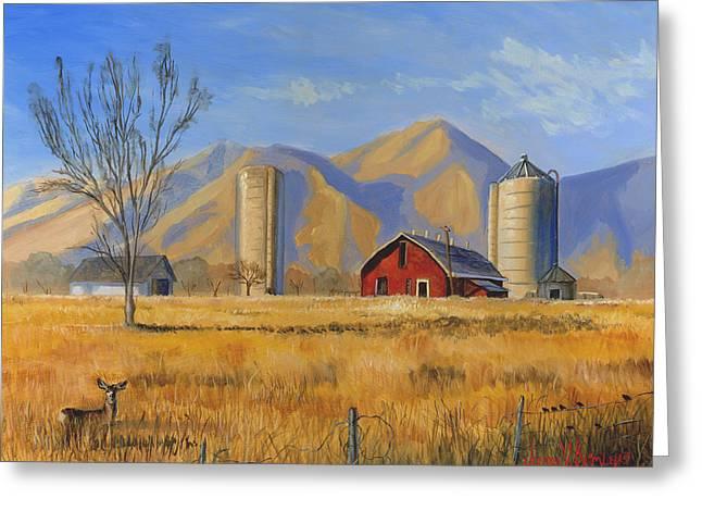Old Vineyard Dairy Farm Greeting Card by Jeff Brimley