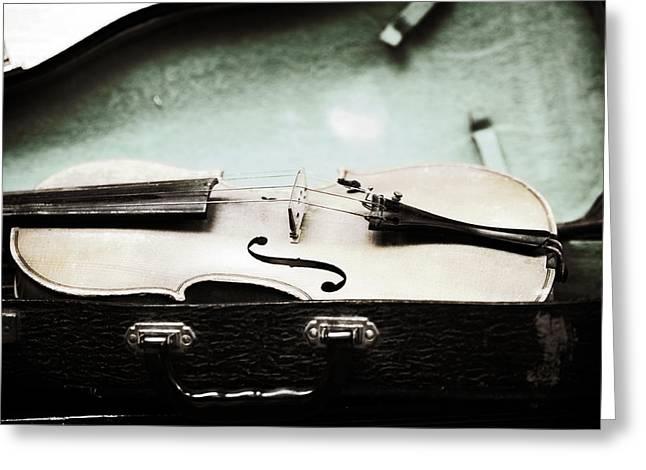 Violin Case Greeting Cards - Old Violin 1 Greeting Card by Marilyn Hunt