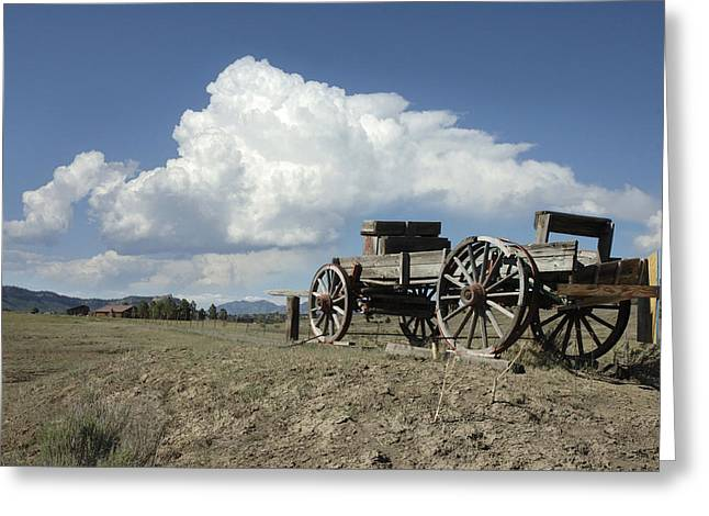 Wagon Greeting Cards - Old Wagon Out West Greeting Card by Jerry McElroy