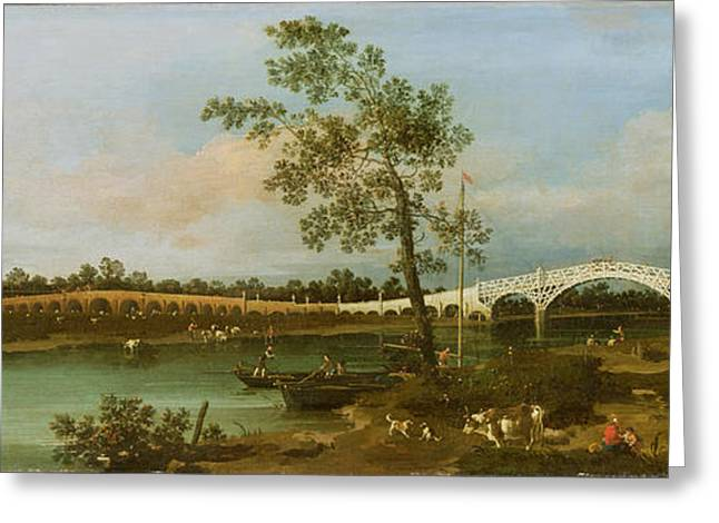 1768 Greeting Cards - Old Waltons Bridge Greeting Card by Giovanni Antonio Canaletto
