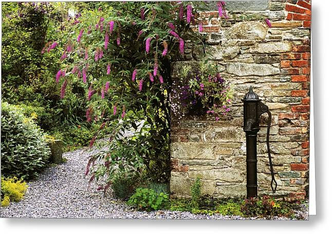 Statuary Garden Greeting Cards - Old Water Pump, Ram House Garden, Co Greeting Card by The Irish Image Collection