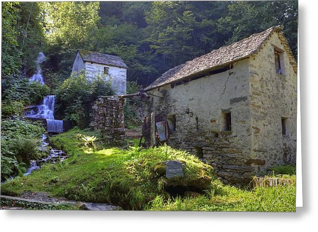 Vallemaggia Greeting Cards - Old Watermill Greeting Card by Joana Kruse
