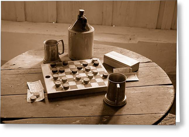 Antique Bottle Greeting Cards - Old Way of Life Series - Past Time Greeting Card by Joe  Ng