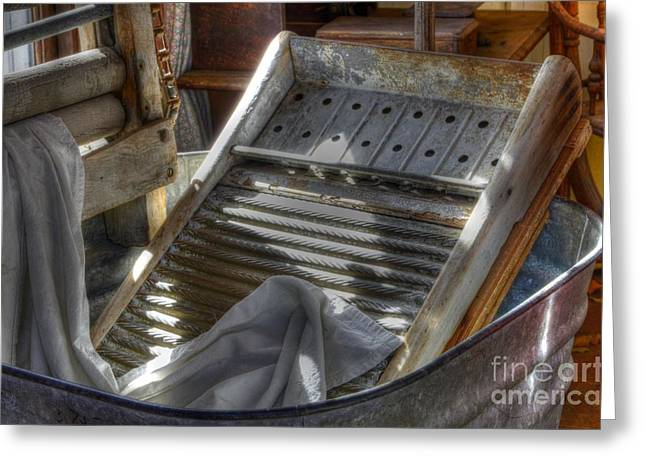 Washboard Greeting Cards - Old Ways Greeting Card by Bob Christopher
