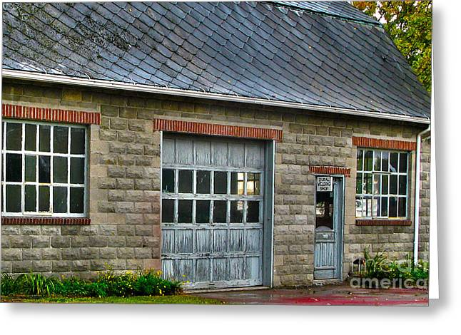Welding Greeting Cards - Old Welding Shop Greeting Card by Jack Schultz