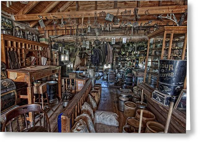Flour Greeting Cards - Old West General Store - Montana Greeting Card by Daniel Hagerman