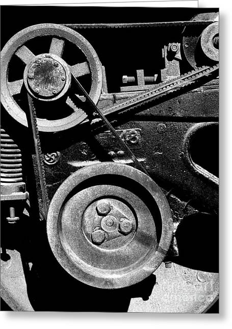 Old Caboose Greeting Cards - Old Western Pacific Caboose Train Wheel . 7D10626 . Black and White Greeting Card by Wingsdomain Art and Photography