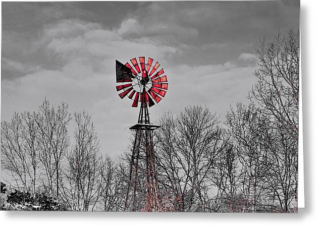 Abandoned House Mixed Media Greeting Cards - Old wind mill Greeting Card by Robert Pearson