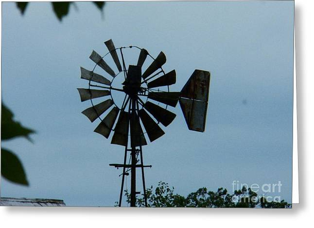 Rural Indiana Greeting Cards - Old Windmill Greeting Card by Joyce Kimble Smith