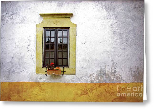 Decadence Greeting Cards - Old Window Greeting Card by Carlos Caetano
