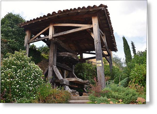 Winepress Greeting Cards - Old Wine press Greeting Card by Dany  Lison