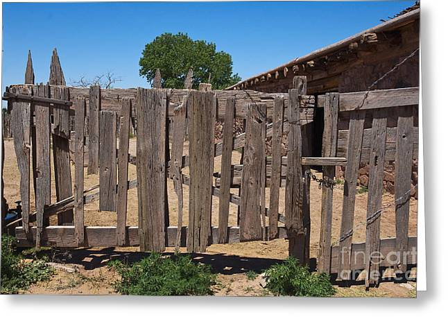 Old Wooden Fence Gate Greeting Card by Thom Gourley/Flatbread Images, LLC