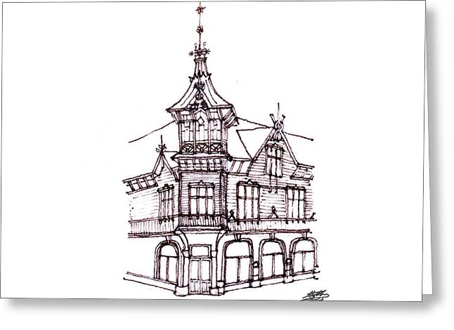 Steve Huang Greeting Cards - Old Wooden House Greeting Card by Steve Huang