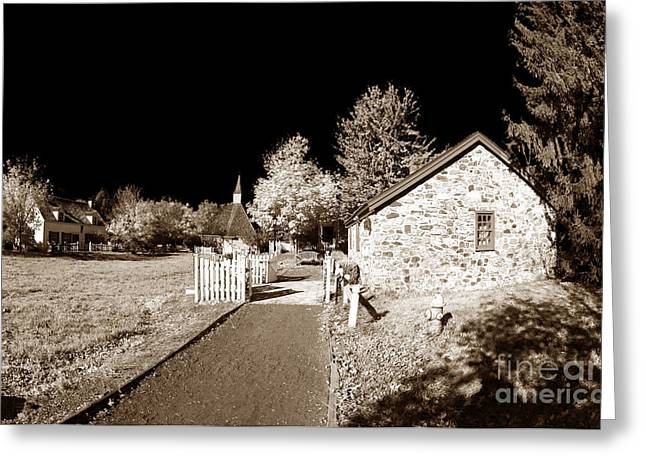 Olde Greeting Cards - Olde Towne History Greeting Card by John Rizzuto