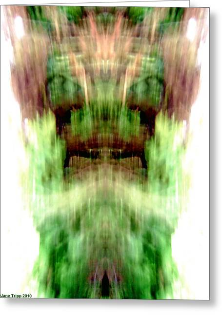 Vision Glass Art Greeting Cards - Older Gods Greeting Card by Jane Tripp