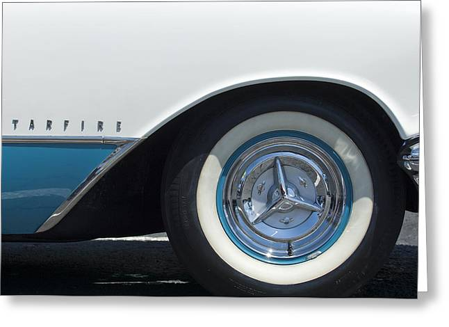 Starfire Photographs Greeting Cards - Oldsmobile Starfire Wheel Greeting Card by Jill Reger