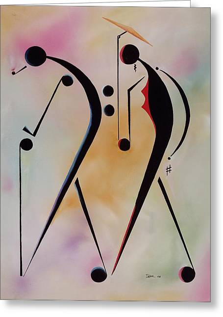 Walking Stick Greeting Cards - Ole Folks Greeting Card by Ikahl Beckford