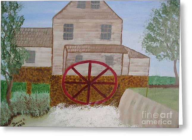 Grist Mill Greeting Cards - Ole Grist Mill Greeting Card by Dawn Harrold