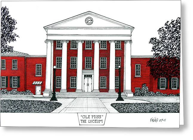 Best Sellers -  - Sec Greeting Cards - Ole Miss Greeting Card by Frederic Kohli