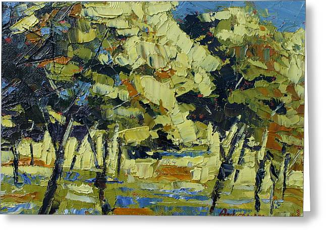 Olive grove Greeting Card by Yvonne Ankerman
