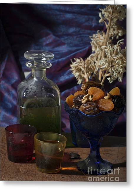 Mideast Greeting Cards - Olive oil and dried fruit  Greeting Card by Ilan Amihai