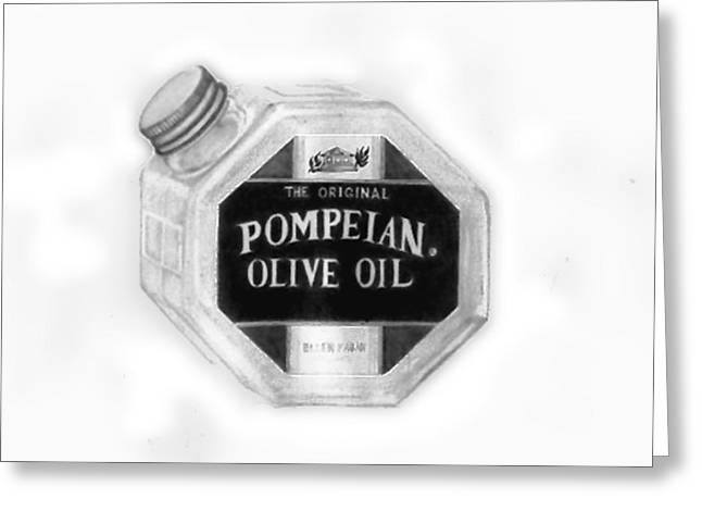 Olive Oil Drawings Greeting Cards - Olive Oil  Greeting Card by Elle Smith  Fagan
