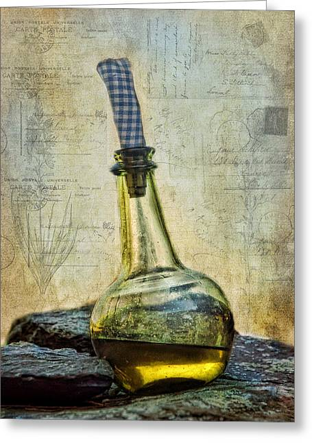 Olive Oil Greeting Cards - Olive Oil Greeting Card by Robin-lee Vieira