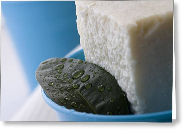 Olive Oil Soaps Greeting Card by Frank Tschakert