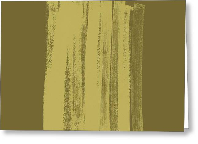 Prints Abstract Greeting Cards - Olive on Olive 1 Greeting Card by Julie Niemela