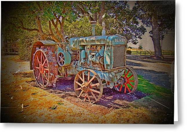 Oliver Tractor 2 Greeting Card by Nick Kloepping