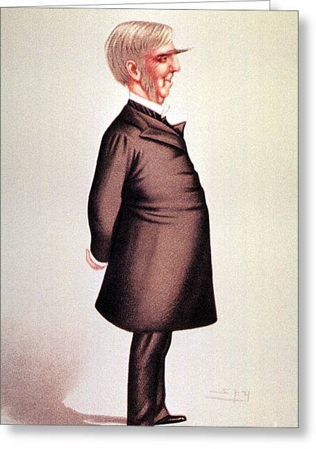 Vanity Fair Greeting Cards - Oliver Wendell Holmes, American Greeting Card by Science Source