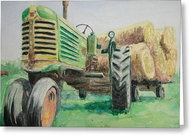 Patsy Kline Greeting Cards - Olivers Still Working Greeting Card by Patsy Kline