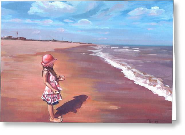 Sutton Paintings Greeting Cards - Olivia Greeting Card by Anthony Greentree