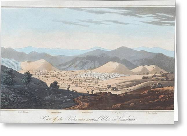 Principles Greeting Cards - Olot Volcanic Field, 19th Century Greeting Card by King
