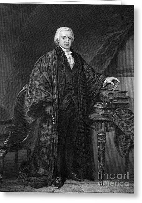 Chief Justice Greeting Cards - OLVIER ELLSWORTH (1745-1807). Chief Justice of the United States Supreme Court, 1796-1799. Steel engraving, 1863 Greeting Card by Granger