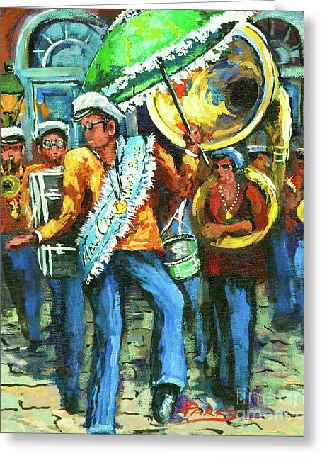 Marching Band Greeting Cards - Olympia Brass Band Greeting Card by Dianne Parks