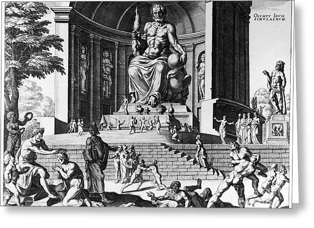 Joannes Greeting Cards - Olympia: Statue Of Zeus Greeting Card by Granger