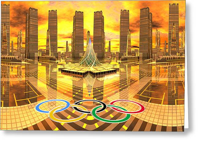 Olympia the City of Ancient and new Champions Greeting Card by Heinz G Mielke