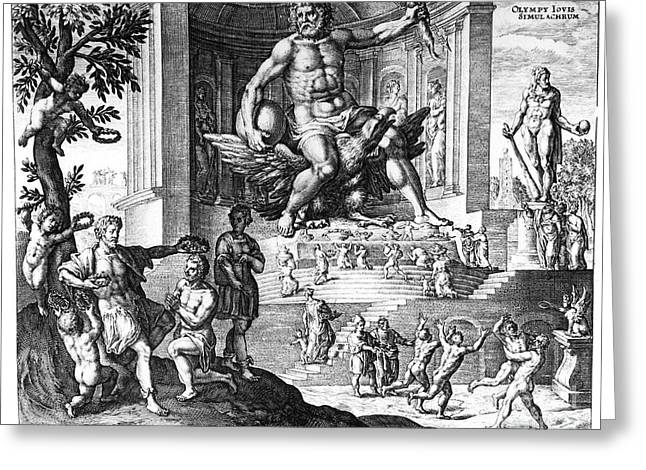 17th C Greeting Cards - Olympia: Zeus Greeting Card by Granger