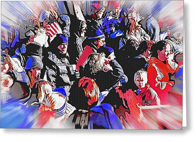 Olympic Crowd Snapshot Greeting Card by Steve Ohlsen