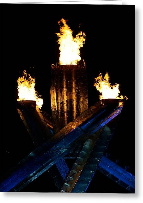 Olympic Flame Greeting Card by Ivan SABO