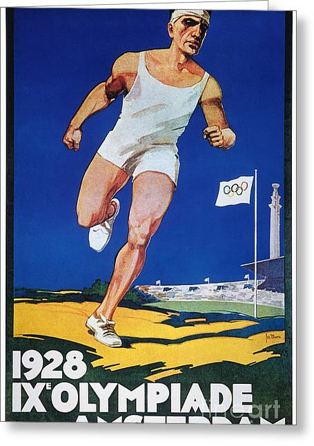 Footrace Greeting Cards - Olympic Games, 1928 Greeting Card by Granger