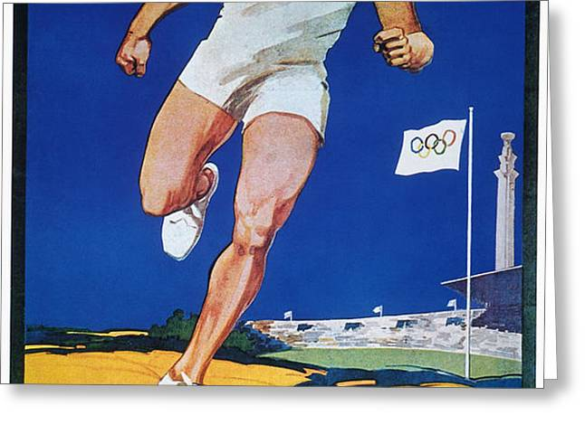 OLYMPIC GAMES, 1928 Greeting Card by Granger