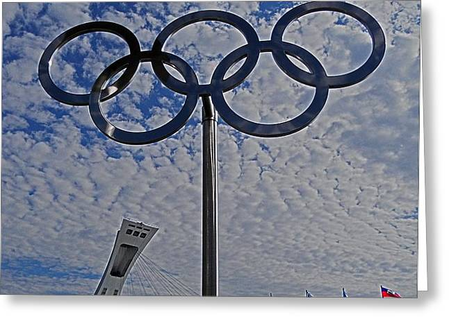 Olympic Stadium Montreal Greeting Card by Juergen Weiss