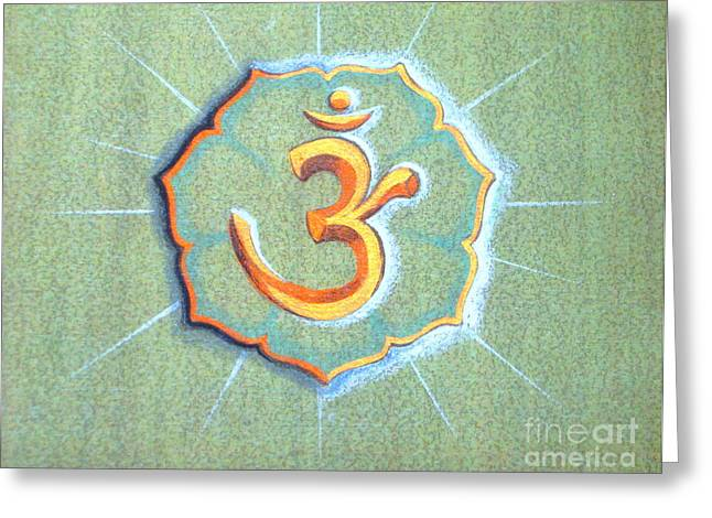 Faa Exclusive Greeting Cards - Om Greeting Card by Shasta Eone
