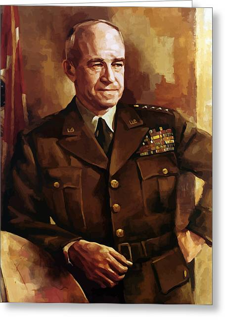 Joint Greeting Cards - Omar Bradley Greeting Card by War Is Hell Store