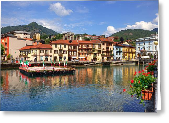 Lago Greeting Cards - Omegna - Lago dOrta Greeting Card by Joana Kruse