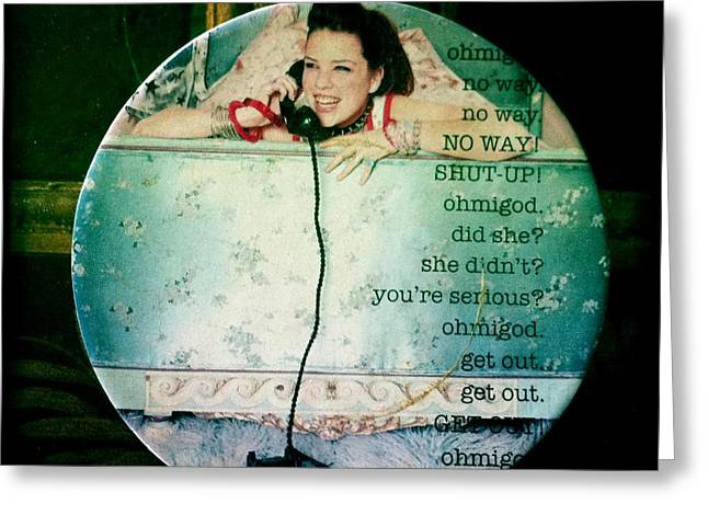 Omg No Way Shut Up Greeting Card by Nina Prommer