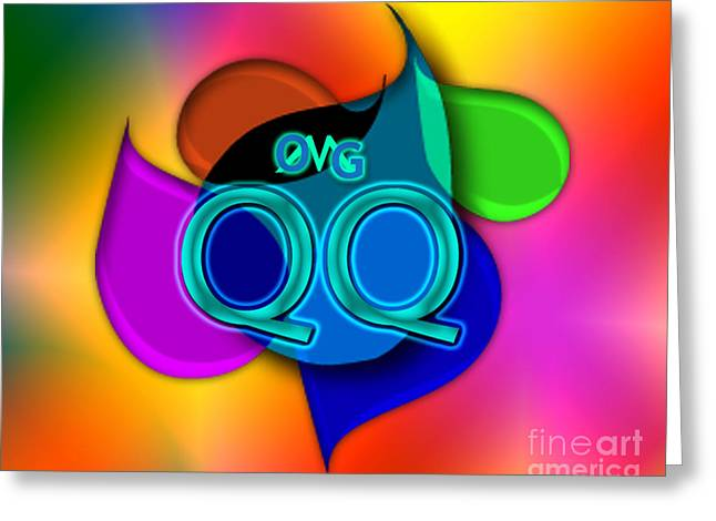 Omg Greeting Cards - OMG qq Greeting Card by Linda Seacord